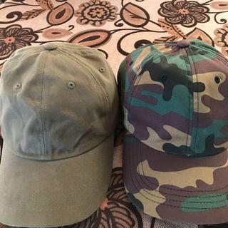2 items yupoong army & olive