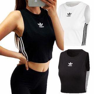 Adidas短版背心黑色