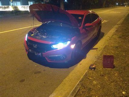 Customised Chip or Cree Eutectic Led Bulb on Honda Civic Gen X Headlight H8 H9 H11 not Hid