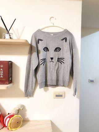可愛貓咪針織衫
