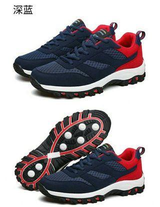 🏃透氣網沙戶外運動休閒男鞋🏃$980🏃 🏃#顏色:黑白色,深灰色,藍紅色🏃 🏃#尺碼:39.40.41.42.43.44🏃
