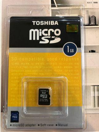 Toshiba micro sd card 1gb
