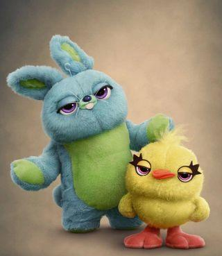 Soft toy bunny and ducky 2 new character from toy story 4 origin from japan. Both is same height 50cm