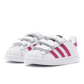 A Adidas Superstar CF I Pink Sneaker Shoe Super Star Kids Baby