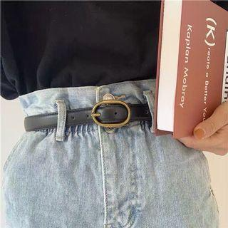 ⚡️FLASH SALE⚡️Black Belt with Gold Oval Ring