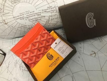 Goyard Saint Suplice Card Holder Goyardice Orange