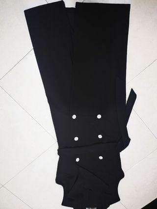 Divalicious black wrap dress