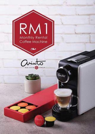 RM1 Rental Fees for Arissto Italy Coffee Machine