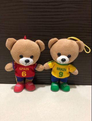 World Cup teddy bear 7-11 Collectibles