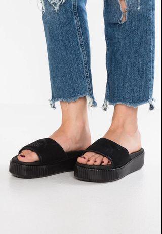 Puma 厚底 松糕 拖鞋 25cm puma platform slide