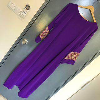 INC POST Purple Jubah (Size L)