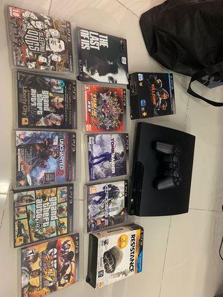 Wts Ps3 slim 320G and 15 pcs game