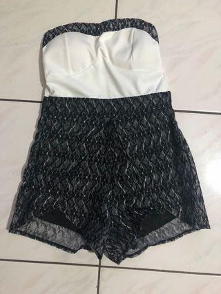 平口連身短褲
