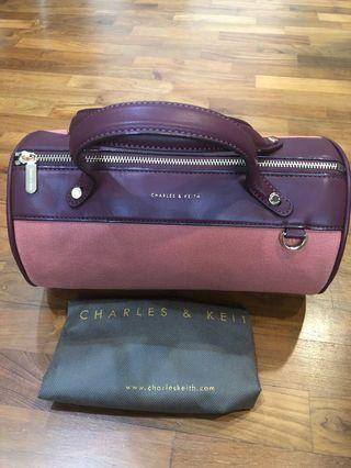Charles and Keith Mini Duffel Crossbody Bag