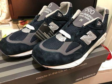 New Balance 990v2 navy N990NV2 US8 8.5 余文樂