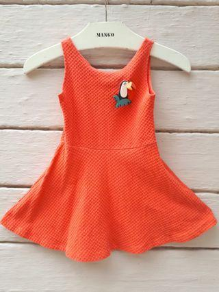 Zara Kids Orange Dress