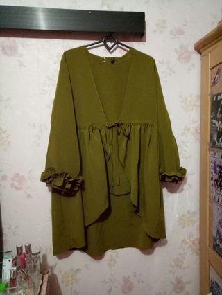 Top Flowy Olive