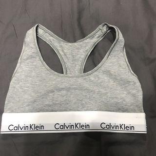 灰S 美國店面購入 正品 Calvin Klein CK underwear 運動內衣 內衣 logo