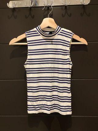 H&M stripes turtle neck