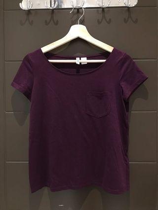 H&M basic maroon shirt