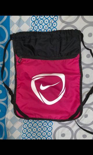 Nike Pink Drawstring Bag