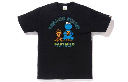 Bape x Sesame street milo & cookie monster tee