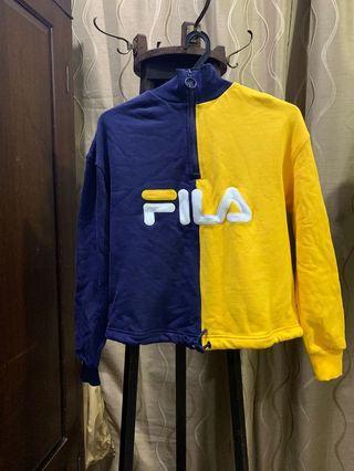 Authentic Fila Colour Block 1/4 Zip Track Top