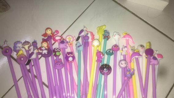 colourful characters pen (5 pcs rm10)