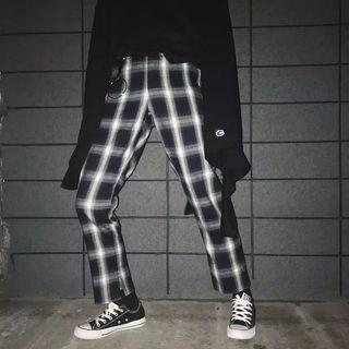 Casual Plaid Pants (include Ring)
