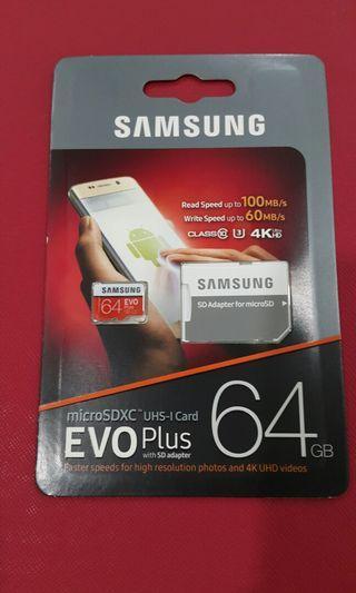 Samsung Evo Plus SD memory card