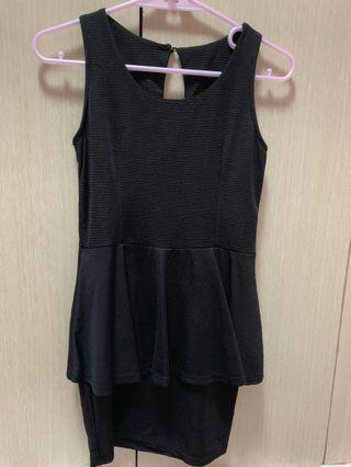 黑色露背連身洋裝