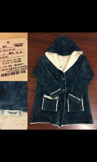 原價$2580花木馬Hana+Hana 毛海保暖長版外套