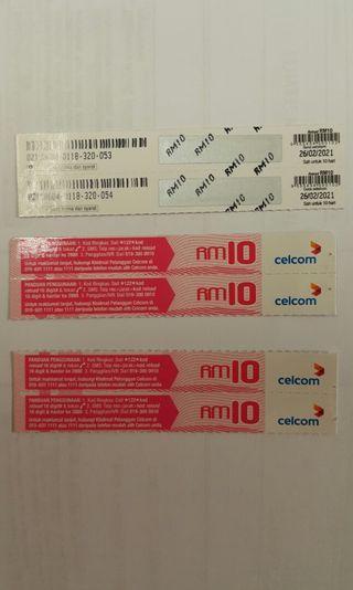 Celcom reload cards
