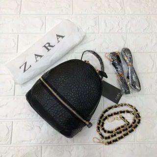 Zara ransel backpack croco original import