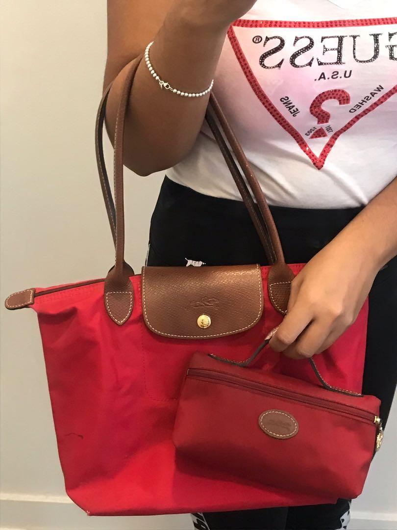 ❤️ Authentic Longchamp Le Pliage Small shoulder tote plus pouch ❤️