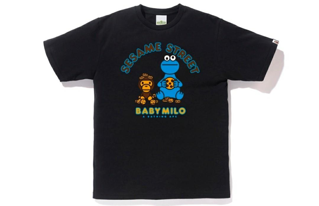 Bape x Sesame street milo & cookie monster tee