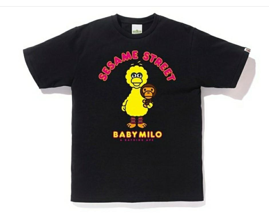 Bape x Sesame street milo and big bird tee
