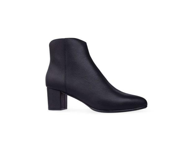 Bared Footwear Metaltail Boots in Black Textured Leather
