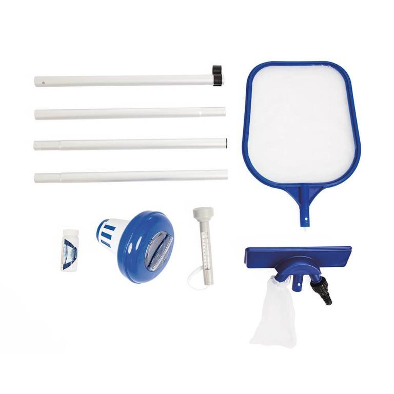 Bestway Swimming Pool Cleaner Set Vacuum Maintenance Kit/Floater/Thermometer