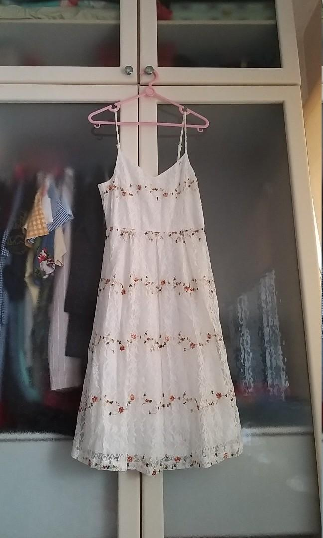 Brand new Lacey embroidered dress