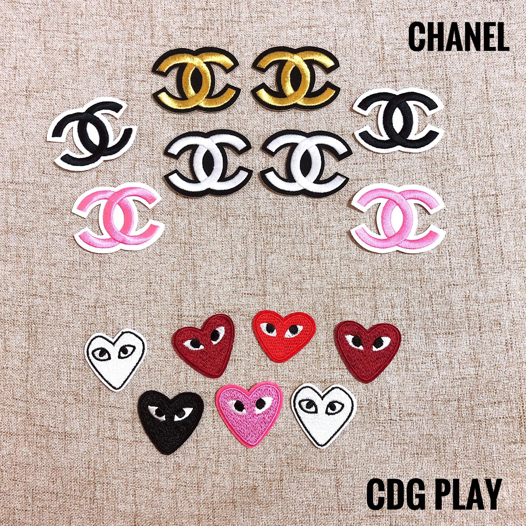 CHANEL / CDG PLAY Iron on patches