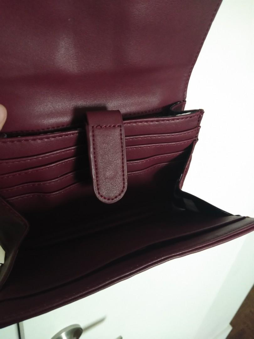 Colab Faux Leather Purse with built-in Accordion Wallet