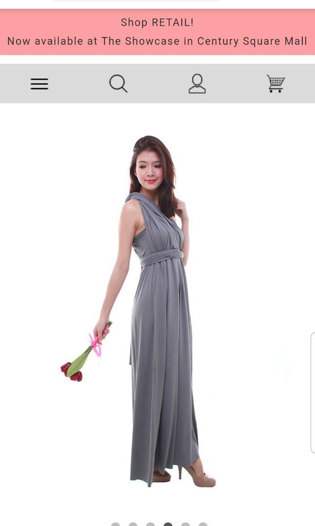 Convertible Gray dress