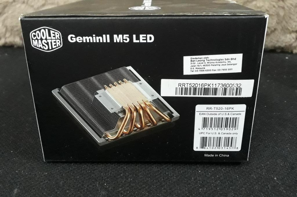 Cooler Master GEMINII M5 LED Intel AMD CPU Cooler New Unit 01