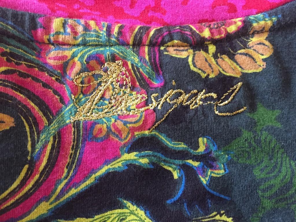 DESIGUAL Rainbow Graphic 100% Cotton Spanish Streetwear Dress Sz S AU 8-10
