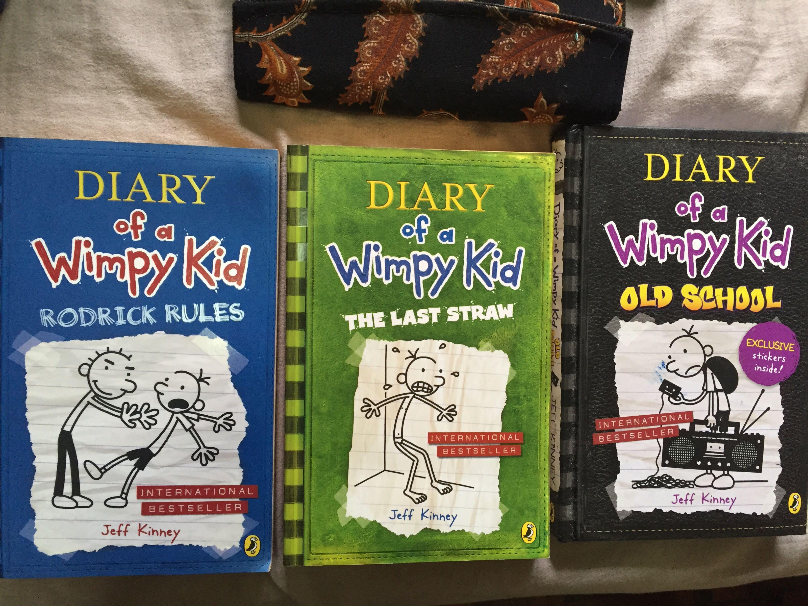 Diary Of A Wimpy Kid Rodrick Rules The Last Straw Old School Books Stationery Books On Carousell