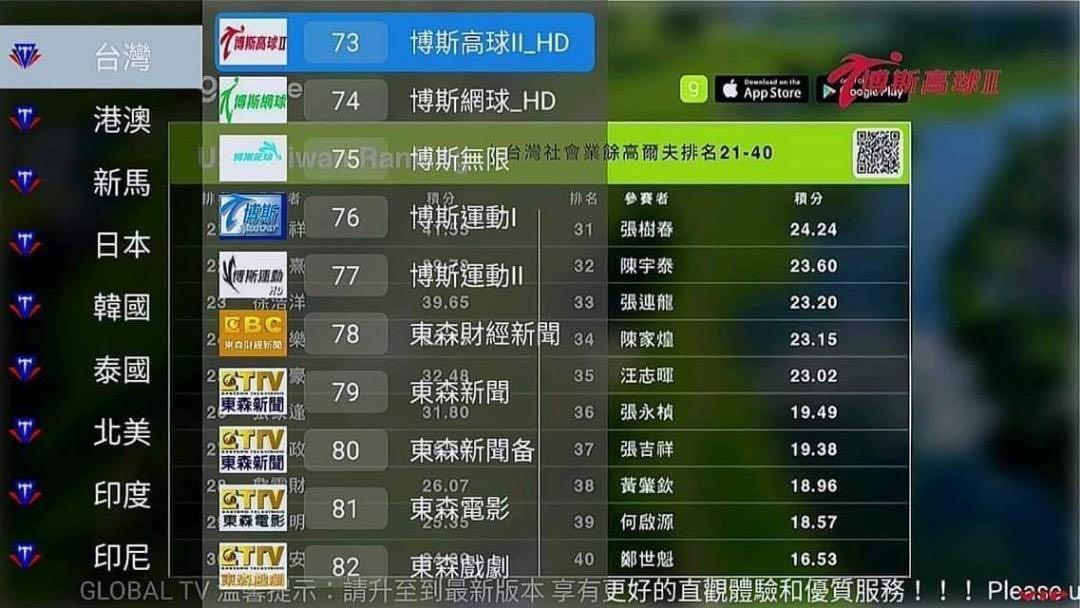 Global TV, Soccer premier league - FREE lifetime Sub - Movie, Drama, Live TV