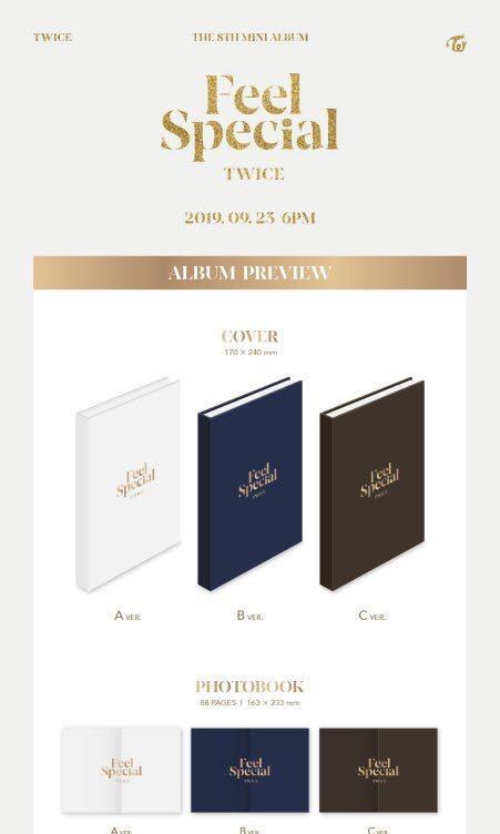 GROUP ORDER Twice 8th mini album Feel Special Album