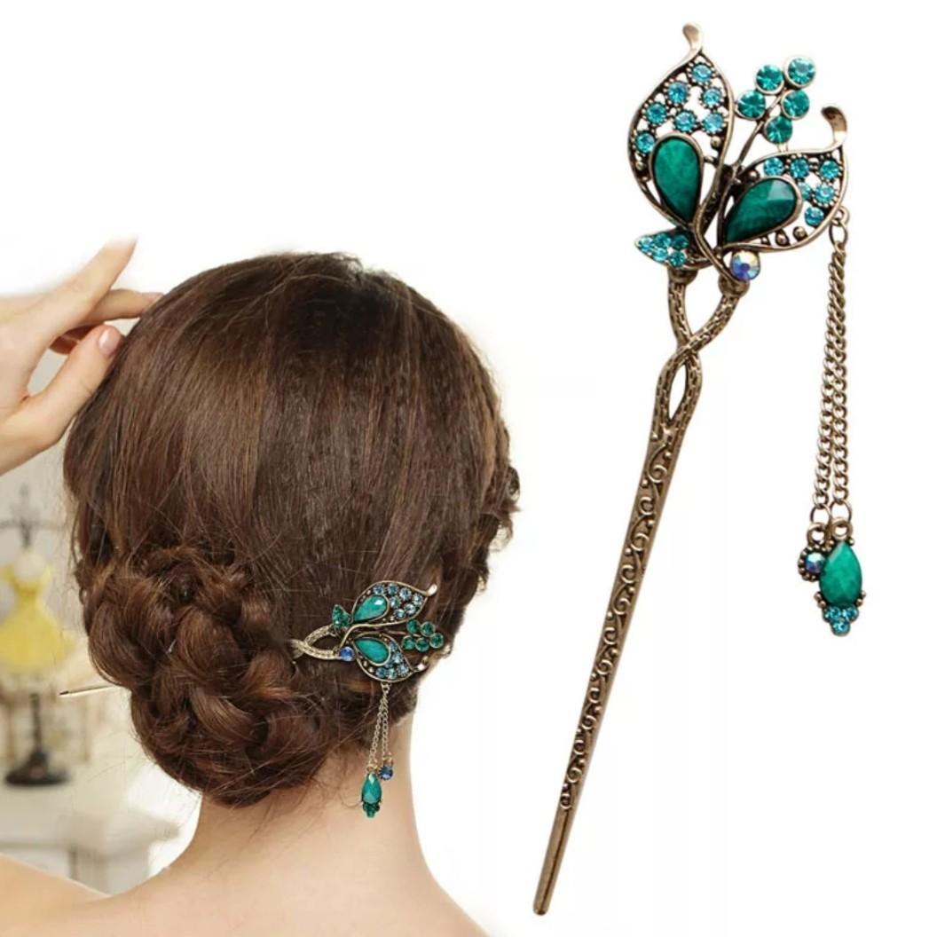 Vintage Long Tassel Hair Stick Pin Chinese Japanese Women Hair Accessories