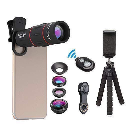 HG385: Camera Lens Kit Tripod Shutter Remote 4 in 1